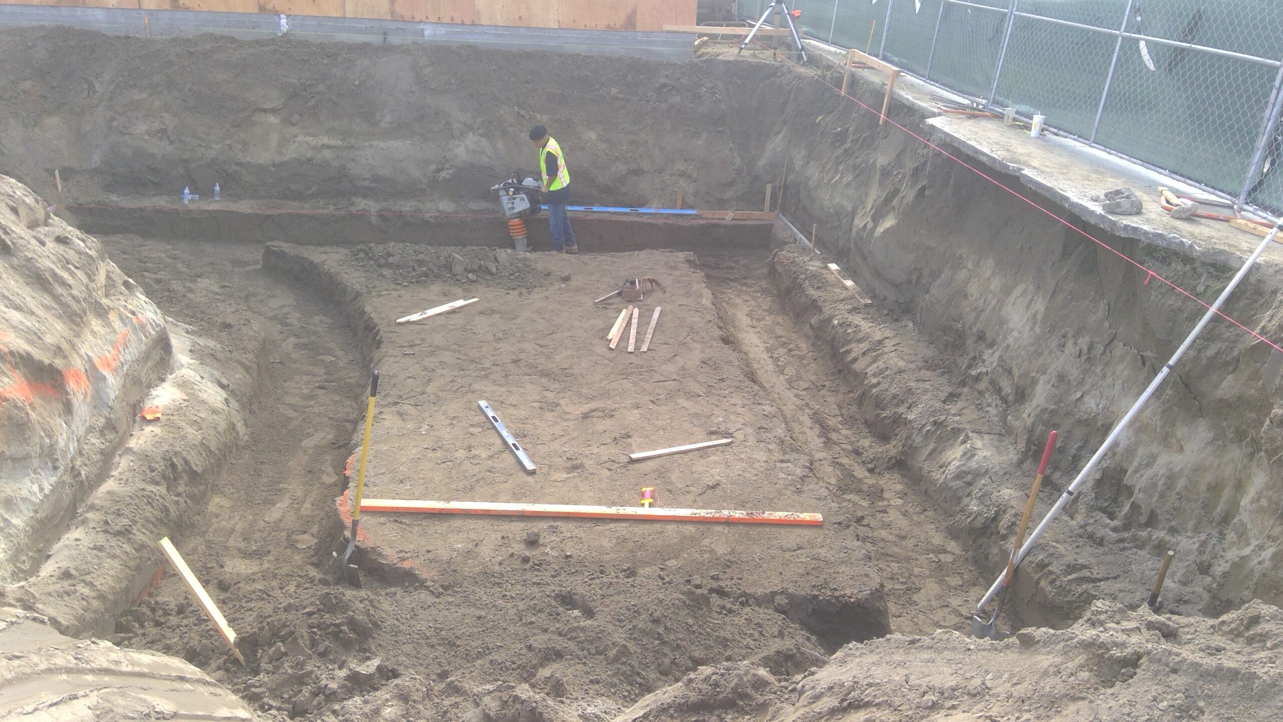 Concrete Forming, Rebar's Installation, Moment Frame Bolts Installation, Pouring Concrete,