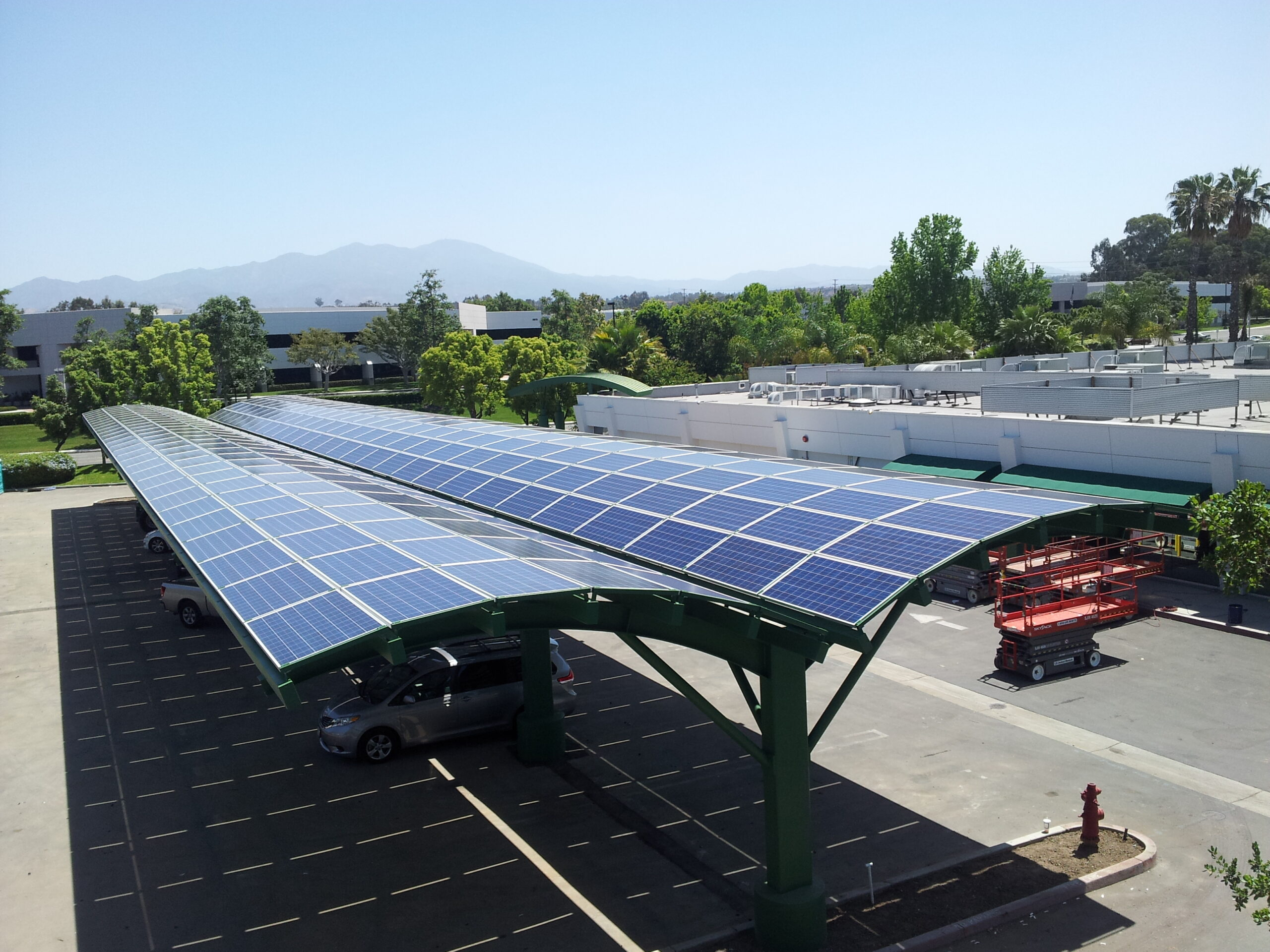 Steel Structure Framing, Solar panels Installation