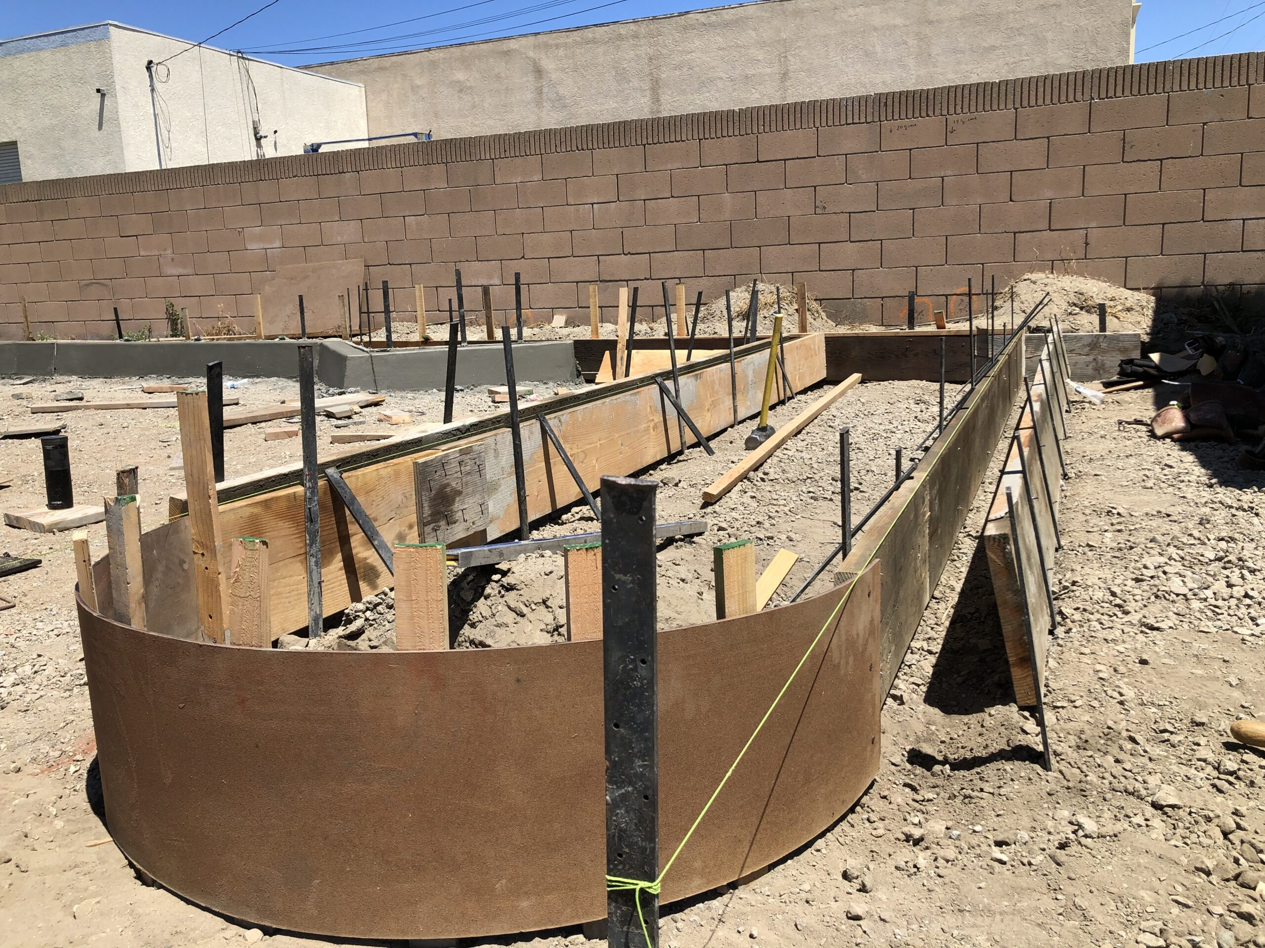 Concrete Forming Pouring Concrete