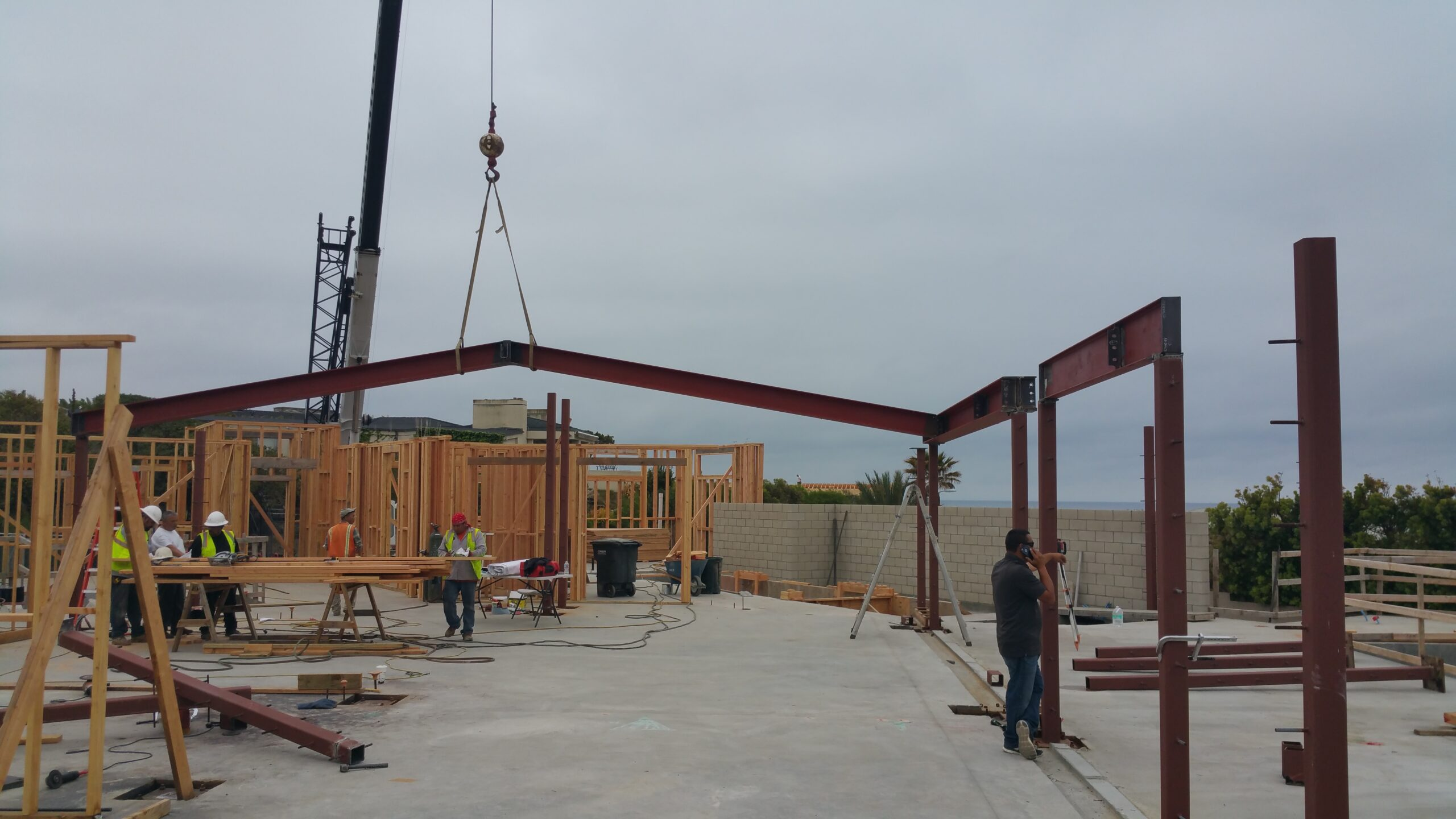 Concrete Forming, Rebars Installation, Steel Structure Framing, Pouring Concrete